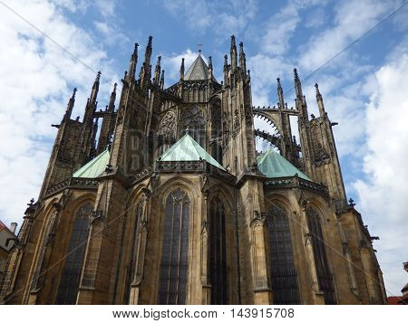 St. Vitus Cathedral in Prague in Czech