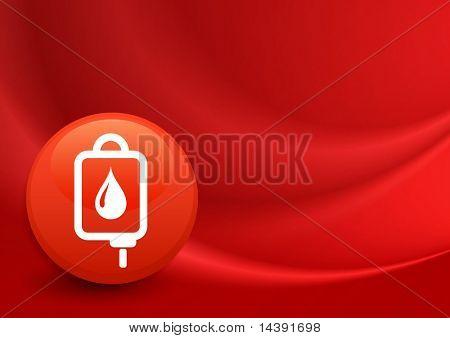 Bloed IV pictogram op Internet knop oorspronkelijke vectorillustratie