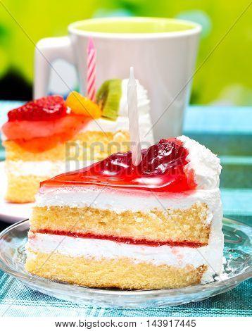 Birthday Cream Cake Indicates Restaurant Birthdays And Creamy
