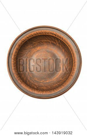 earthenware dish porcelain on a white background