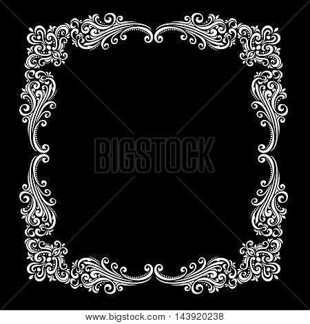 vintage baroque frame scroll ornament. Vector .