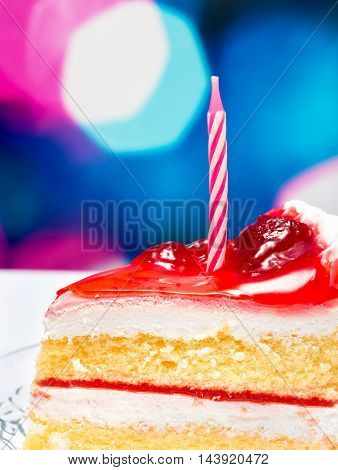 Strawberry Birthday Cake Represents Birthdays Strawberries And Celebrates