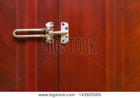 unlocked stainless steel safety latch at home
