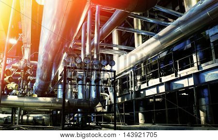 Industrial Zone, Steel Pipelines And Equipment