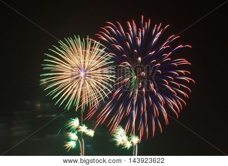 beautiful fireworks celebrate and happy new year