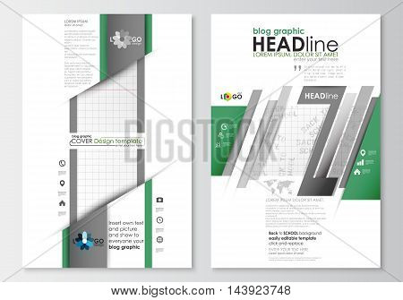 Blog graphic business templates. Page website design template, easy editable, abstract flat layout. Back to school background with letters made from halftone dots, vector illustration.