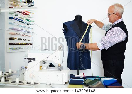 Working in tailoring shop