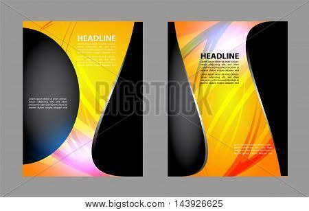 Presentation of flyer design content background template.. Vector.