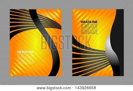 vector business brochure design, flyer template abstract