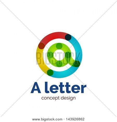 Vector modern minimalistic letter concept logo template, abstract business icon