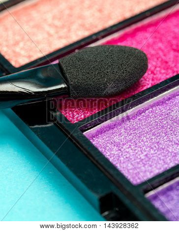 Eye Shadow Makeup Shows Beauty Product And Cosmetic