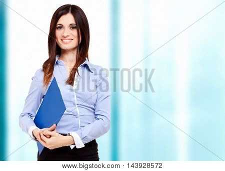 Business woman in her office