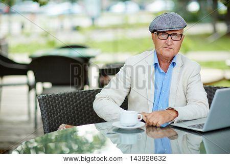 Aged writer