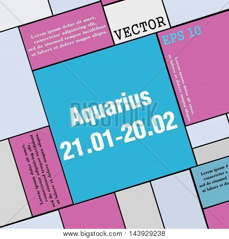 Aquarius Icon Sign. Modern Flat Style For Your Design. Vector