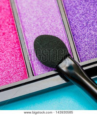 Eye Shadow Brush Represents Make Up And Cosmetology