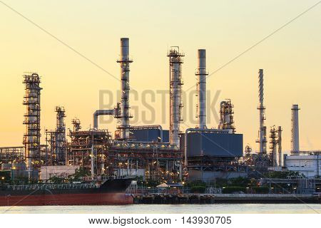 Oil refinery factory in the morning, Bangkok