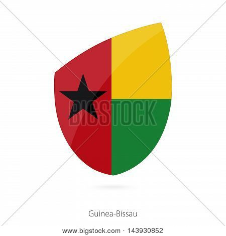 Flag Of Guinea-bissau In The Style Of Rugby Icon.