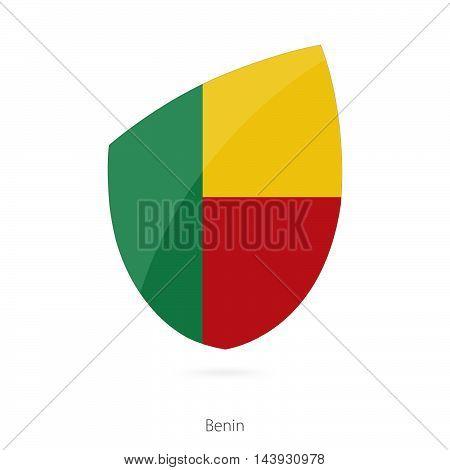 Flag Of Benin. Benin Rugby Flag.
