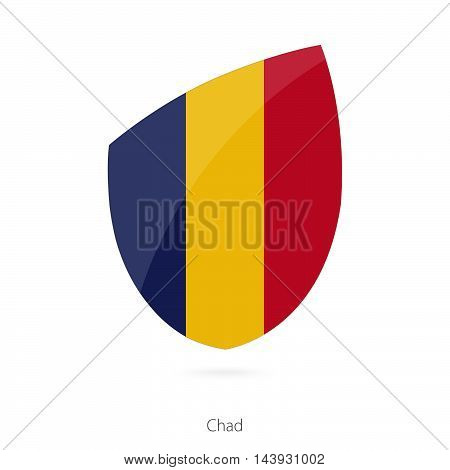 Flag Of Chad. Chad Rugby Flag.