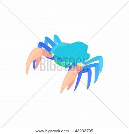 Cancer with large claws icon in cartoon style isolated on white background. Crustaceans symbol
