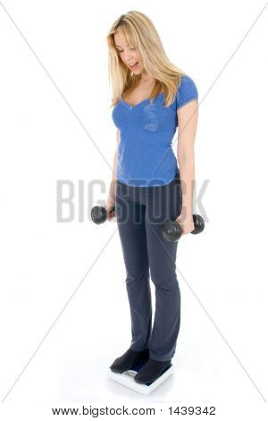 Woman Measuring Weight