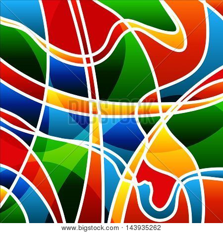 Abstract bright background with Rio summer olympic colors.