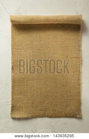 burlap hessian sacking on wall background