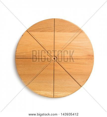 pizza board isolated on white background