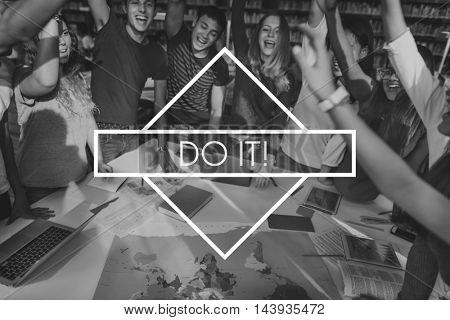 Team Togetherness Goals Success Teamwork Concept