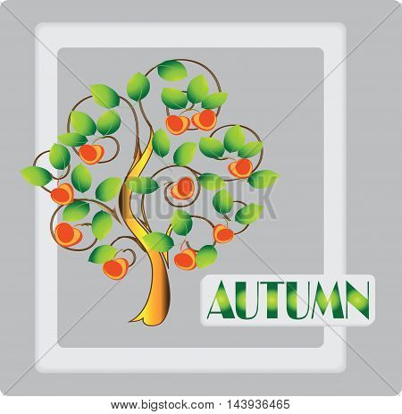 Autumn. Ripe apples.Design frames for your banner. Vector image