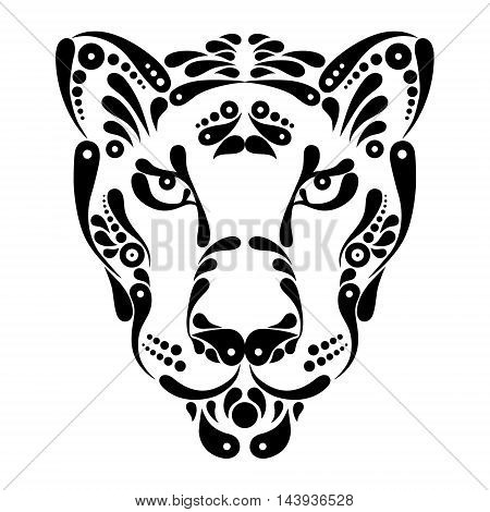 Panther tattoo, symbol decoration logo vector illustration