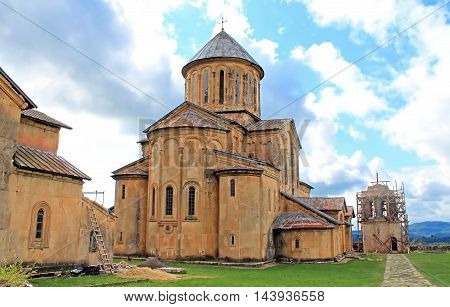 Gelati Monastery, Georgia. It contains the Church founded by the King of Georgia David the Builder in 1106 and the 13th-century churches of St George and St Nicholas