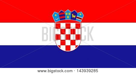 Illustration of the national flag of Croatia