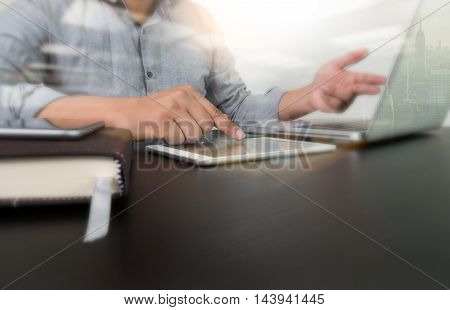 Designer Hand Working With Laptop Computer