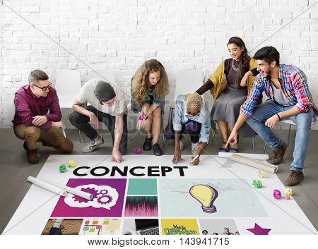 People Togetherness Brainstorming Ideas Concept