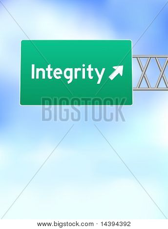 Integrity Highway Sign Original Vector Illustration