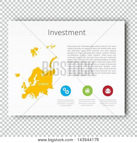 Infographic Investment slide of Australia Map Presentation Template, Business Layout design, Modern Style, Vector design illustration.