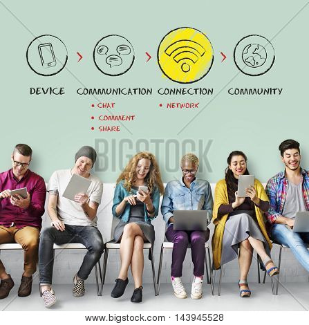 Internet Multimedia Technology Networking Concept