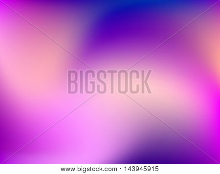 Abstract horizontal blur gradient background with trend pastel pink, purple, violet, magenta and ultramarine colors
