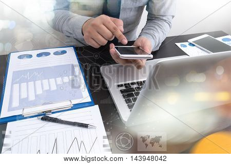 Businessman Making Presentation And Business Strategy