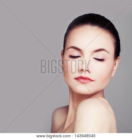 beautiful Spa Woman. Healthy Skin Perfect Face