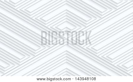 Quilling White Paper Striped Corners