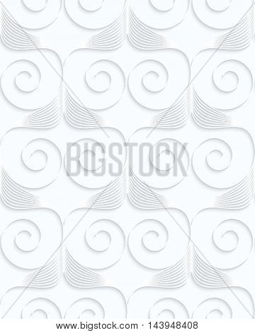 Quilling White Paper Stripes And Spirals In Row