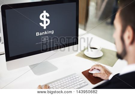 Banking Currency Computer Monitor Concept