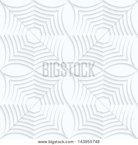 Quilling White Paper Striped Spider Webs In Row