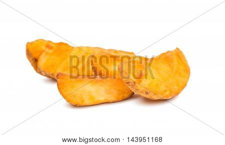 fastfood fried potatoes on a white background