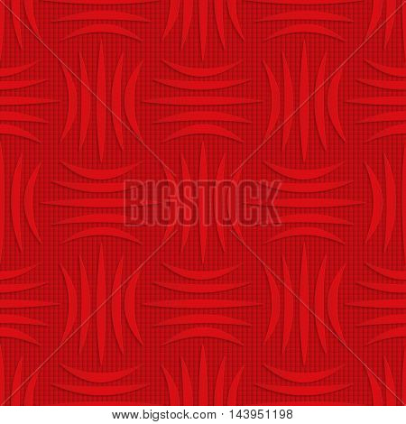 Red Stripes On Checkered Background