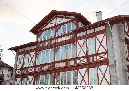 Basque Country. France. House Typical From South West Of France