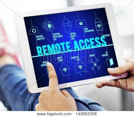 Remote Access Connected Drones Technology Concept