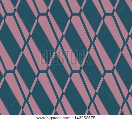 Retro 3D Pink And Green Diamond Net